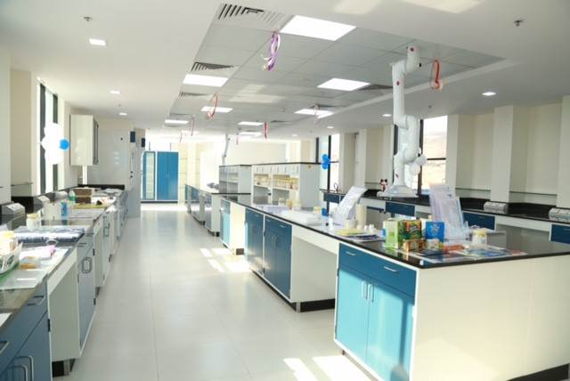 The inside of a lab at H.B. Fuller's Technology Center of Excellence for industrial adhesives.