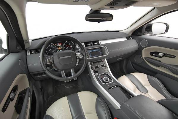 Interior of an automobile.